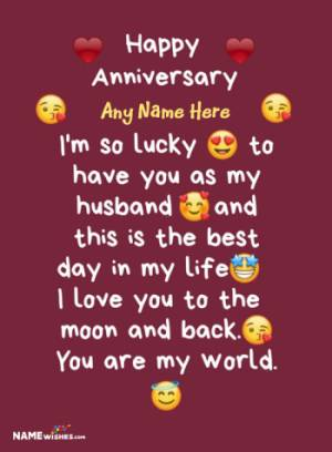 Happy Anniversary Wishes With Name Edit For Whatsapp Status