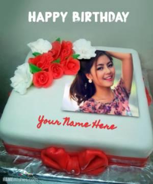 Happy Birthday Cake With Name and Photo - Love Cake