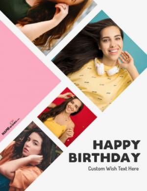Happy Birthday Collage In a Fashion Cover Style