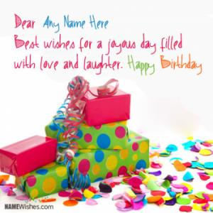 Happy Birthday Messages With Name