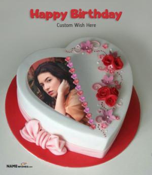 Happy Birthday Wife Cake With Photo