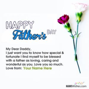Lovely Happy Fathers Day Images With Name Editing