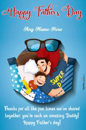 Happy Fathers Day Message From Daughter With Photo Frame Gift