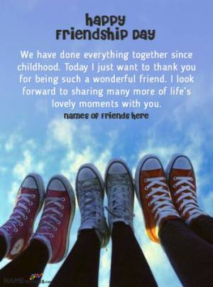 Happy Friendship Day Quotes With Friends Names