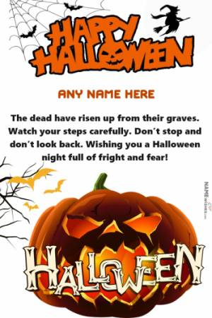 Happy Halloween Wishes With Name and Photo Edit