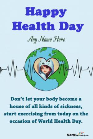 Happy Health Day Wish With Name and Photo For Friends