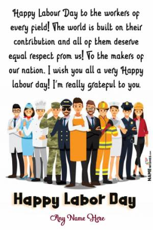 Happy Labour Day Wishes With Name and Photo