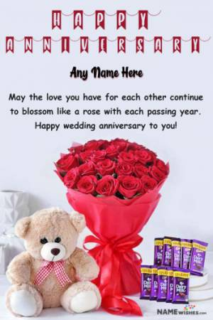Happy Marriage Anniversary Wish With Name Online Gift