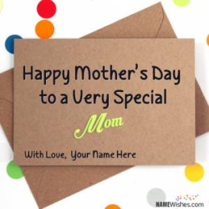 Happy Mother's Day Card With Name