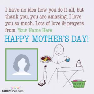 Happy Mother's Day Wishes With Name and Pic Editing