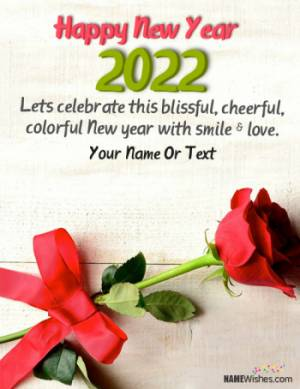 Fabulous New Year Quote 2021 With Name