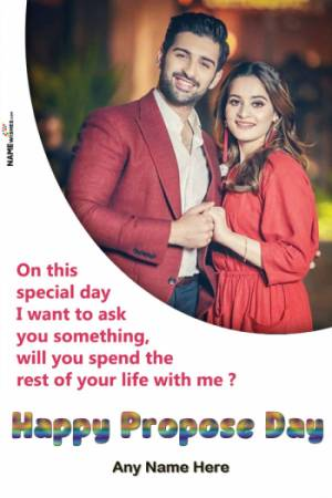 Happy Propose Day Wishes and Quotes with Name and Photo Online