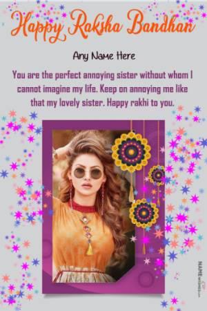 Happy Raksha Bandhan Quotes Wishes With Name Photo - Rakhri 2021
