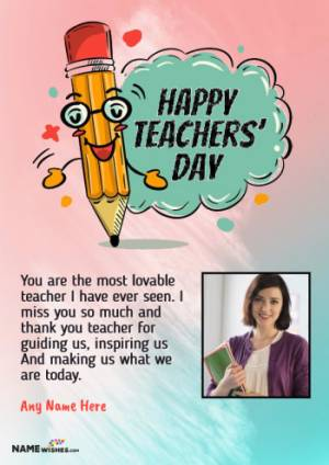 Happy Teachers Day Wishes With Name and Photo