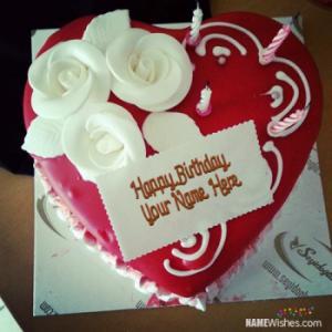 Heart Red Velvet Birthday Cake