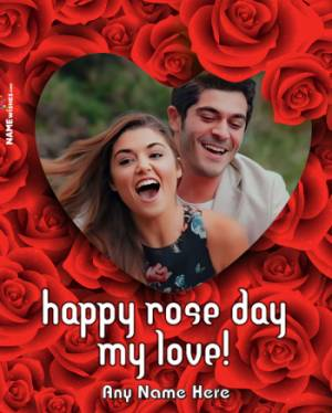 Happy Rose Day Wishes With Name and Photo - Quotes Messages