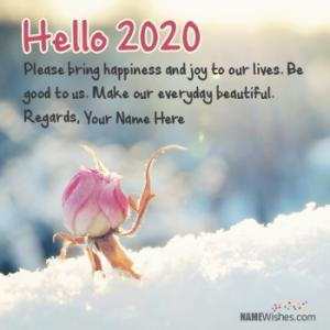 Best Hello 2019 Wishes With Name