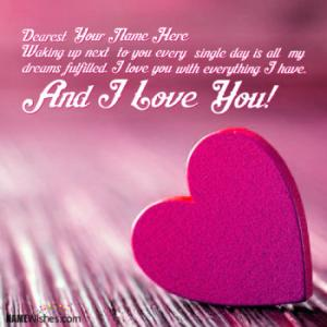 I Love You Images With Couple Names