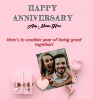Lovely Anniversary wish For Spouse with Name and Photo