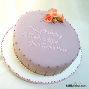 Lovely Happy Birthday Cake With Name