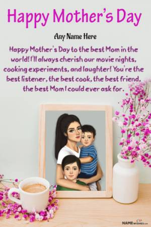 Mother's Day Wishes With Name and Photo