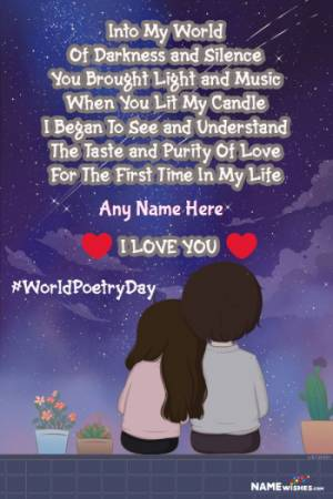 Lovely Romantic Poetry Lines With Name Edit Online