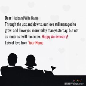Marriage Anniversary Wishes With Name