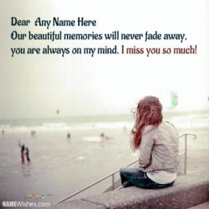 Miss You Image For Girls With Names