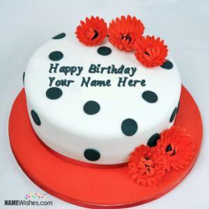 Online Editing Name Birthday Cake For Girls