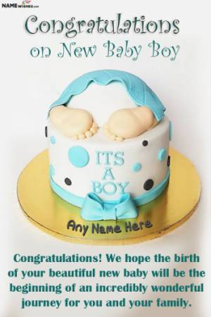 New Born Baby Wishes With Name and Photo