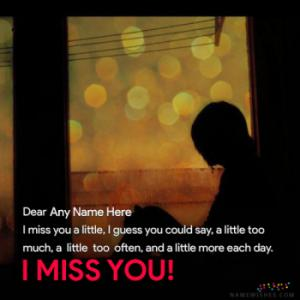 Miss You Images With Name and Photos