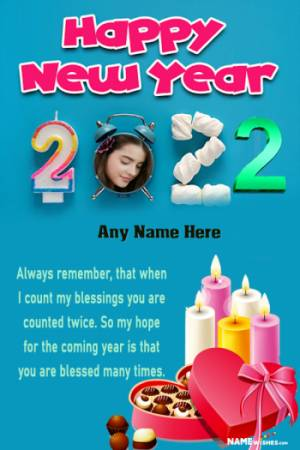 New Year Wish In Hindi With Name and Photo Edit Online