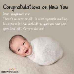 Newborn Baby Congratulations Messages With Name