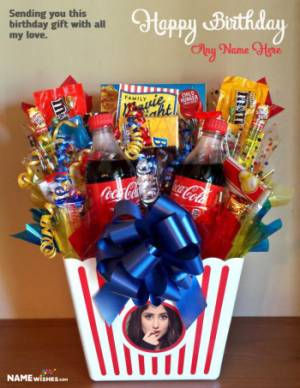 Personalized Chocolates Basket Birthday Gift For Friends