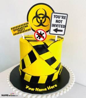 Quarantine Birthday Cake With Name Edit
