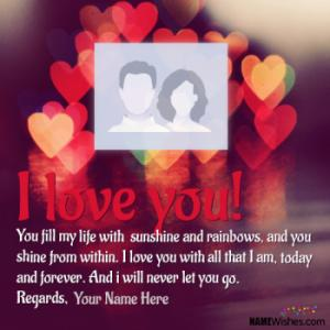 Quotes About Love With Name Editing and Photo Frame