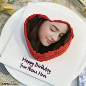 Red Velvet Heart Birthday Cake