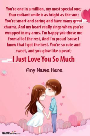 Romantic Love Poetry For Someone Special With Name