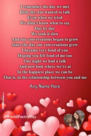 Romantic Poetry For Lovers With Name and Pic Edit