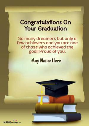 Royal Congratulations Message For Graduation With Name