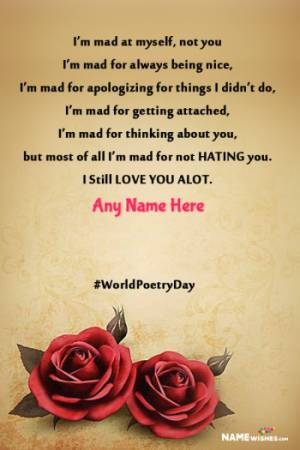 Sad Heart Broken Poetry For Lovers With Name Edit Online