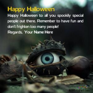 Scary Halloween Wishes With Name