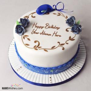 Simple Birthday Cake With Name Editing