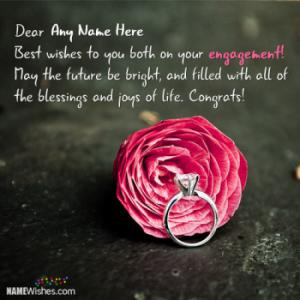 Special Engagement Wishes With Couple Names