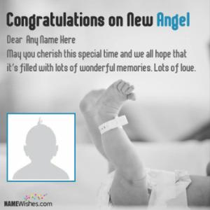 Special New Born Baby Wishes With Name