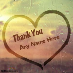 Beautiful Thank You Heart With Name For Friends Or Relatives