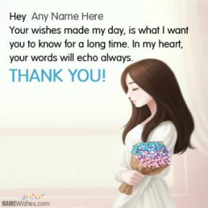 Thank You For Wishes With Name Images