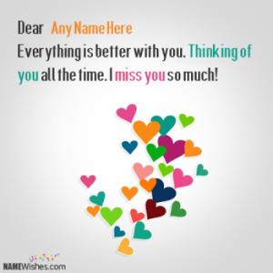 Thinking Of You Image With Name