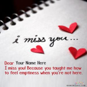 Top I Miss You Images With Name
