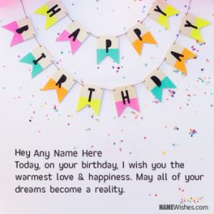 Unique Birthday Wish For Special Friends With Name